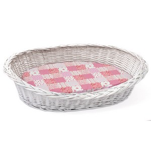 Premium Basket With Pink Cushion