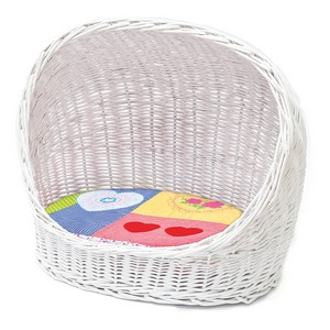 Premium Cat Basket With Patchwork Cushion