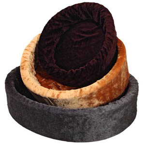 Pet Bed Basic Brown (oval, ca. 67 x 54 cm)