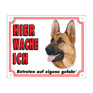 FREE Dog Warning Sign, German Shepherd