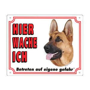 GRATIS Hunde Warnschild, Deutscher Schäferhund