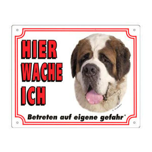 FREE Dog Warning Sign, St. Bernard
