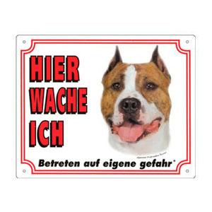 GRATIS Hunde Warnschild, American Staffordshire Terrier
