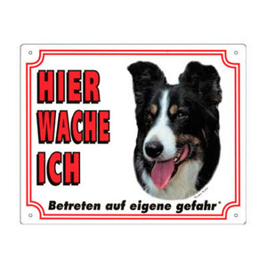 FREE Dog Warning Sign, Border Collie