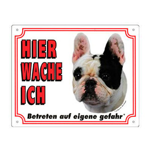 FREE Dog Warning Sign, French Bulldog