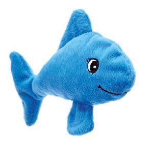 Welli-Fisch Spielkissen für Katzen - Blau