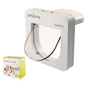 Katzenklappe Smart Flap mit Microchip - Weiß