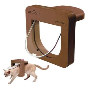 Katzenklappe Smart Flap mit Microchip - Braun