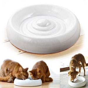 Lucky-Kitty Ceramic Cat Bowl