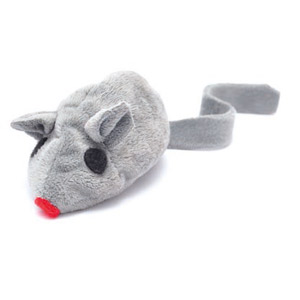 Baldi-Maus Spielkissen Grau