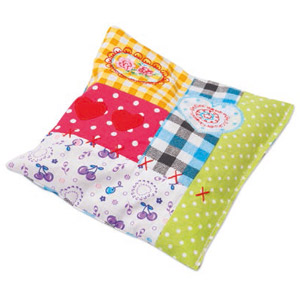 Patchwork Pillow Toy For Cats With Valerian