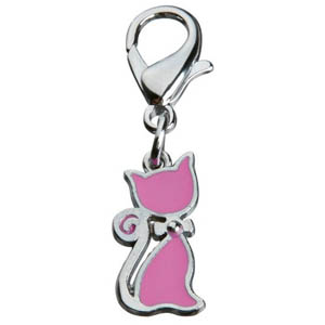 Pendant Cat With Bow Pink