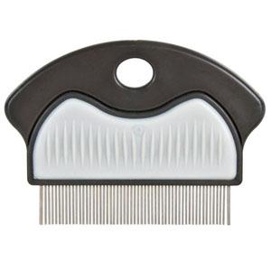 Floh- und Läusekamm, Metall mit Kunststoffgriff