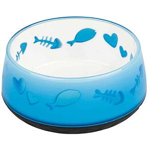 Cat Bowl Lovely Cat Blue