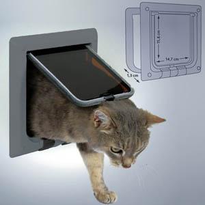 4-Wege Freilauftür für Katzen
