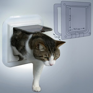 4-Way Cat Flap Especially for Glass