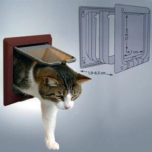 4-Way Cat Flap With Tunnel