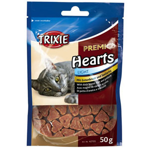 Premio Hearts Light mit Entenbrust und Seelachs, 50g