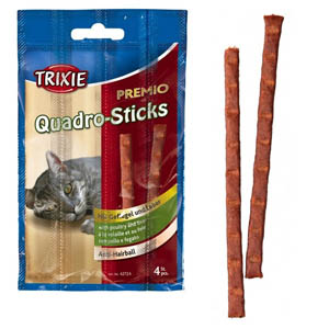 Premio Quadro-Sticks Anti-Hairball Geflügel/Leber