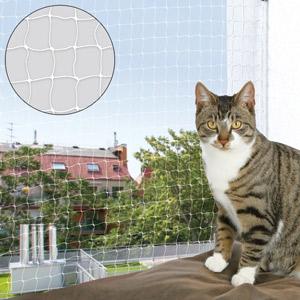 Katzenschutznetz transparent, 3 x 2 m